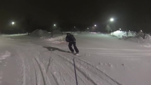 Winter storm allows for blizzard boarding through the streets!
