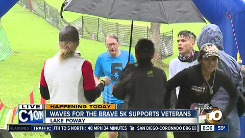 Waves for the brave 5K supports veterans