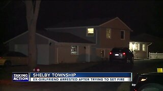 Ex-girlfriend arrested after trying to set fire in Shelby Township