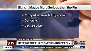 Las Vegas Doctor offers tips to determine if your flu could turn deadly - Video