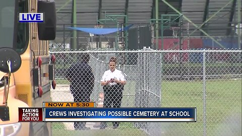 Crews investigating possible cemetery at King HS