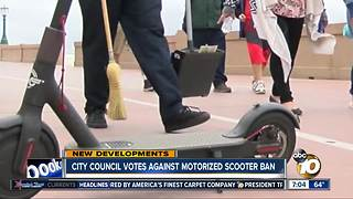 City Council votes against motorized scooter ban