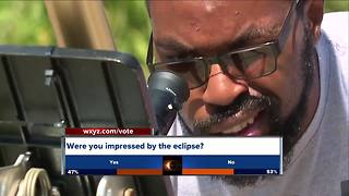Hundreds go to Michigan Science Center to watch eclipse - Video