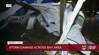 Storm damage across Tampa Bay area