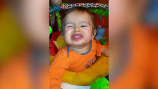 Precious Baby Boy Fails At Smiling - Video