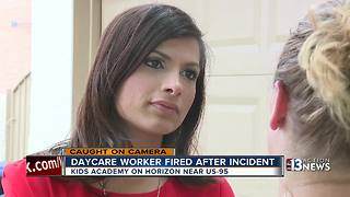 Day care worker fired after incident caught on camera - Video