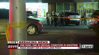 One dead, one in critical condition in shooting - Video