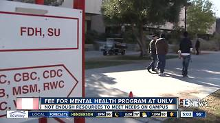 UNLV students will pay for more mental health resources - Video