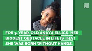 How a 9-Year-Old Girl Born Without Hands Won a National Handwriting Contest - Video