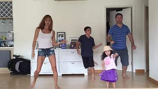 Family Starts Dancing, But Their Little 2-Year-Old Girl Steals The Show - Video