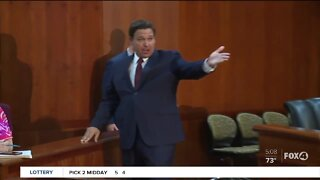 DeSantis walks out of unemployment news conference as reporters ask questions