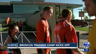 First Day of Broncos Training Camp - Video