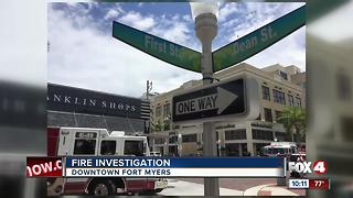 Fire Investigation in Downtown Fort Myers - Video