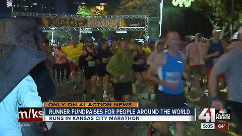 Runner fundraises for people around the world