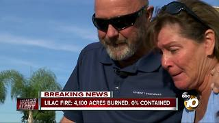 Couple sees burned home for the first time after Lilac Fire - Video