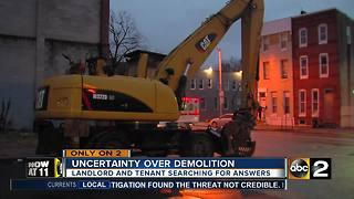 Uncertainty over demolition of building in West Baltimore - Video