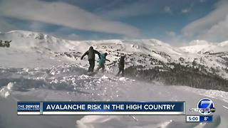 Avalanche danger high in Colorado mountains following Christmas snowfall - Video
