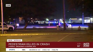 Pedestrian killed in crash near Central and Broadway