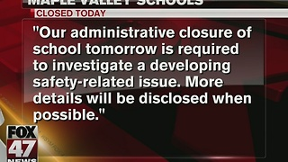 Local school closes due to