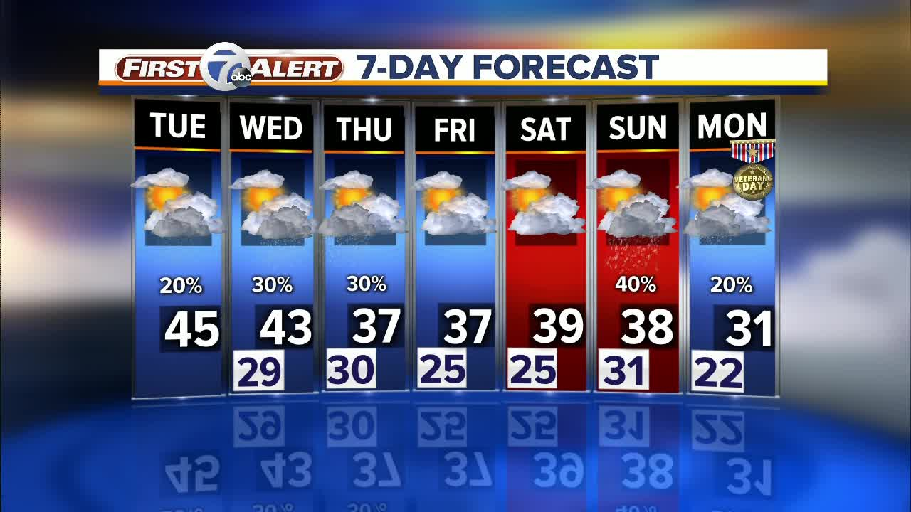 Metro Detroit Forecast: Cold weather settling in