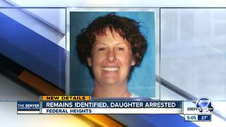 Daughter arrested for murder after father's remains found in shared Federal Heights home - Video