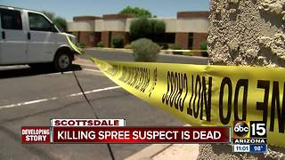 Suspect linked to Valley killing spree is dead, police say - Video