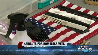 Tucson man gives free haircuts to homeless veterans for Memorial Day Weekend
