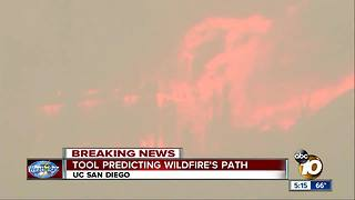 Tool predicting wildfire's path - Video