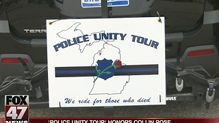 Police Unity Tour honors Collin Rose - Video