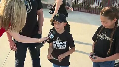 Henderson family brings shark repellent to VGK watch party