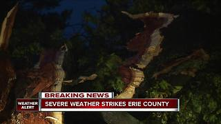 Severe weather strikes Erie County - Video