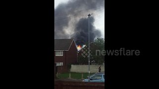 UK oil refinery in flames after 'explosion'