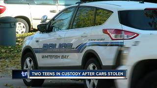 Two teens in custody after cars stolen - Video