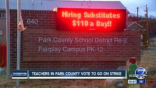 Teachers in Park County vote to authorize a strike
