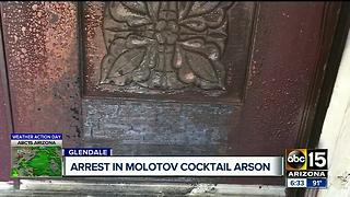 Man arrested after 'Molotov cocktail' arson - Video