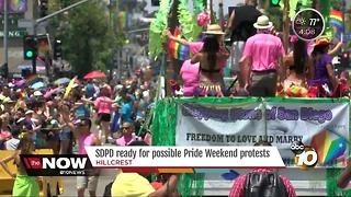 SDPD ready for possible pride weekend protests - Video