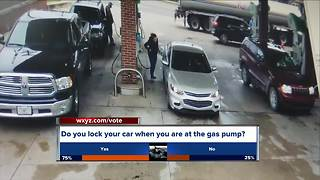 Avoiding carjackings while pumping gas - Video