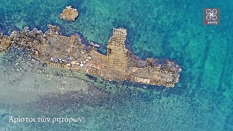 Drone footage captures ancient port in Greek islands
