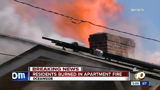 30 people displaced after Oceanside Apartment Fire