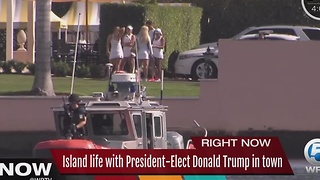 Island life with President-Elect Trump in Palm Beach - Video