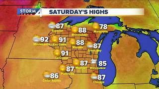 Warm and humid day Saturday - Video