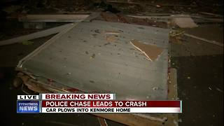 Truck crashes through house in Kenmore - Video
