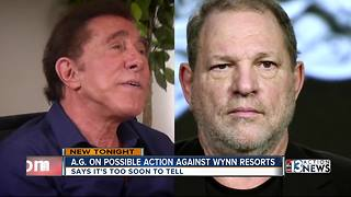 Attorney General speaks out about Steve Wynn - Video