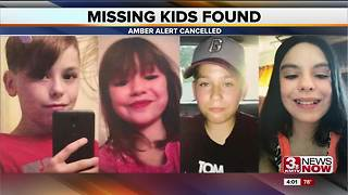 4 kids found after Amber Alert 4p.m. - Video