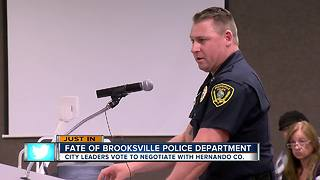 Brooksville city council votes to effectively dissolve police department - Video