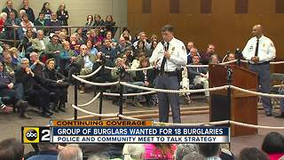 Police and community come together after team of burglars attack Baltimore County - Video