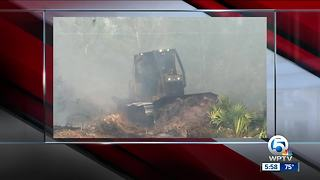 Fire crews battling wildfires in St. Lucie County
