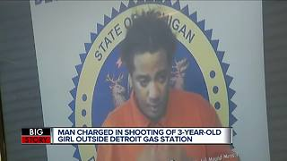 24-year-old charged with shooting girl in head at Detroit gas station - Video
