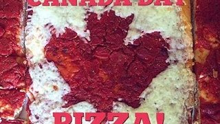 Man Demonstrates How to Cook Delightful Canada Day Pizza - Video