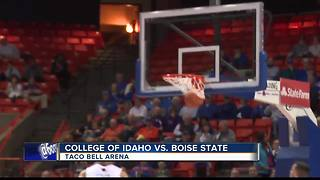 Boise State hangs on vs. C of I 74-69 - Video